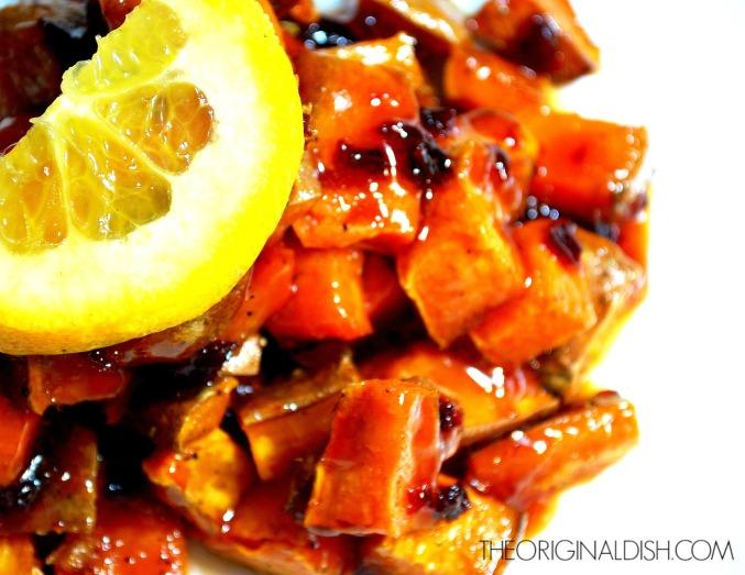 Spicy Orange Glazed Sweet Potatoes Main