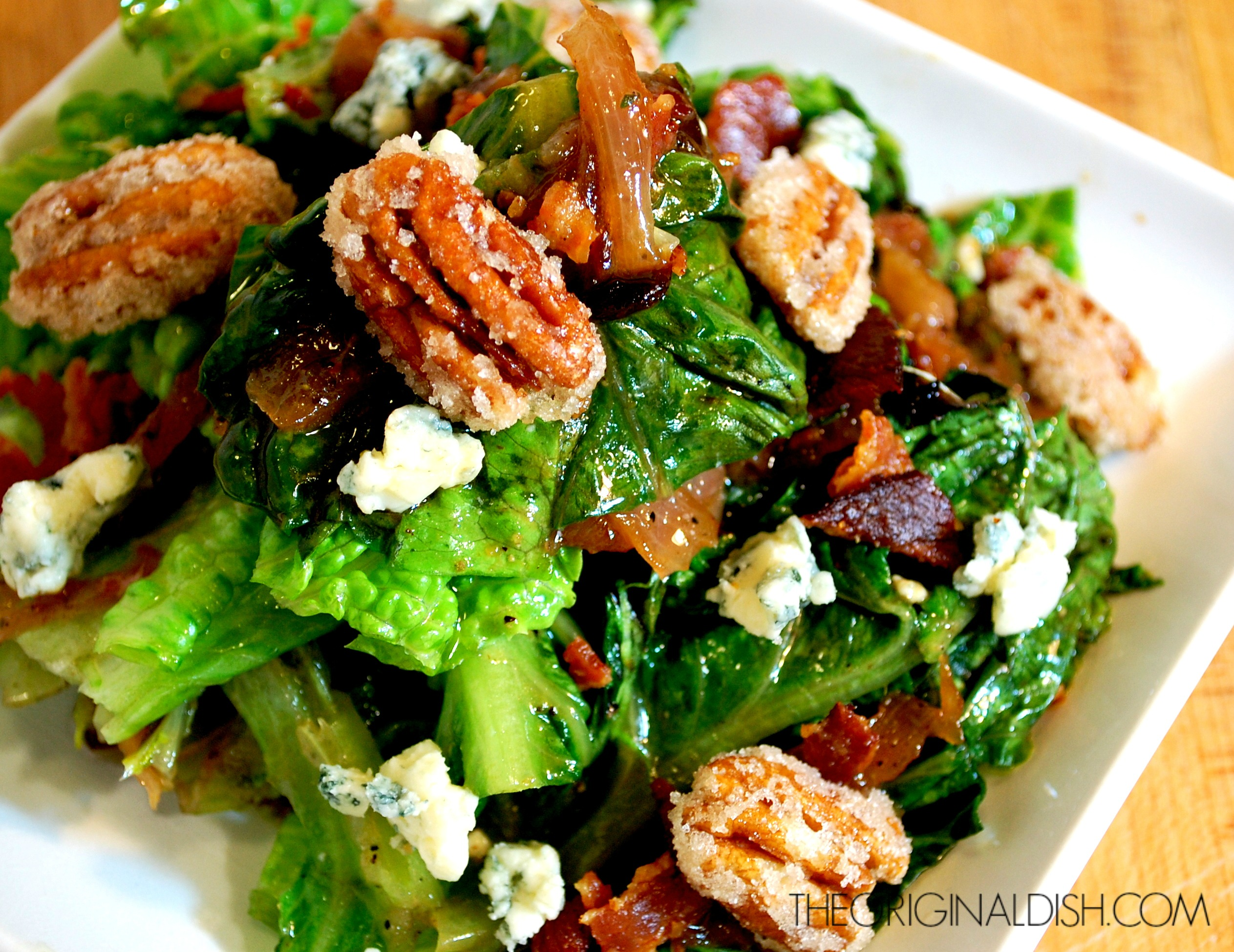 Grilled Romaine with Bacon Vinaigrette | The Original Dish