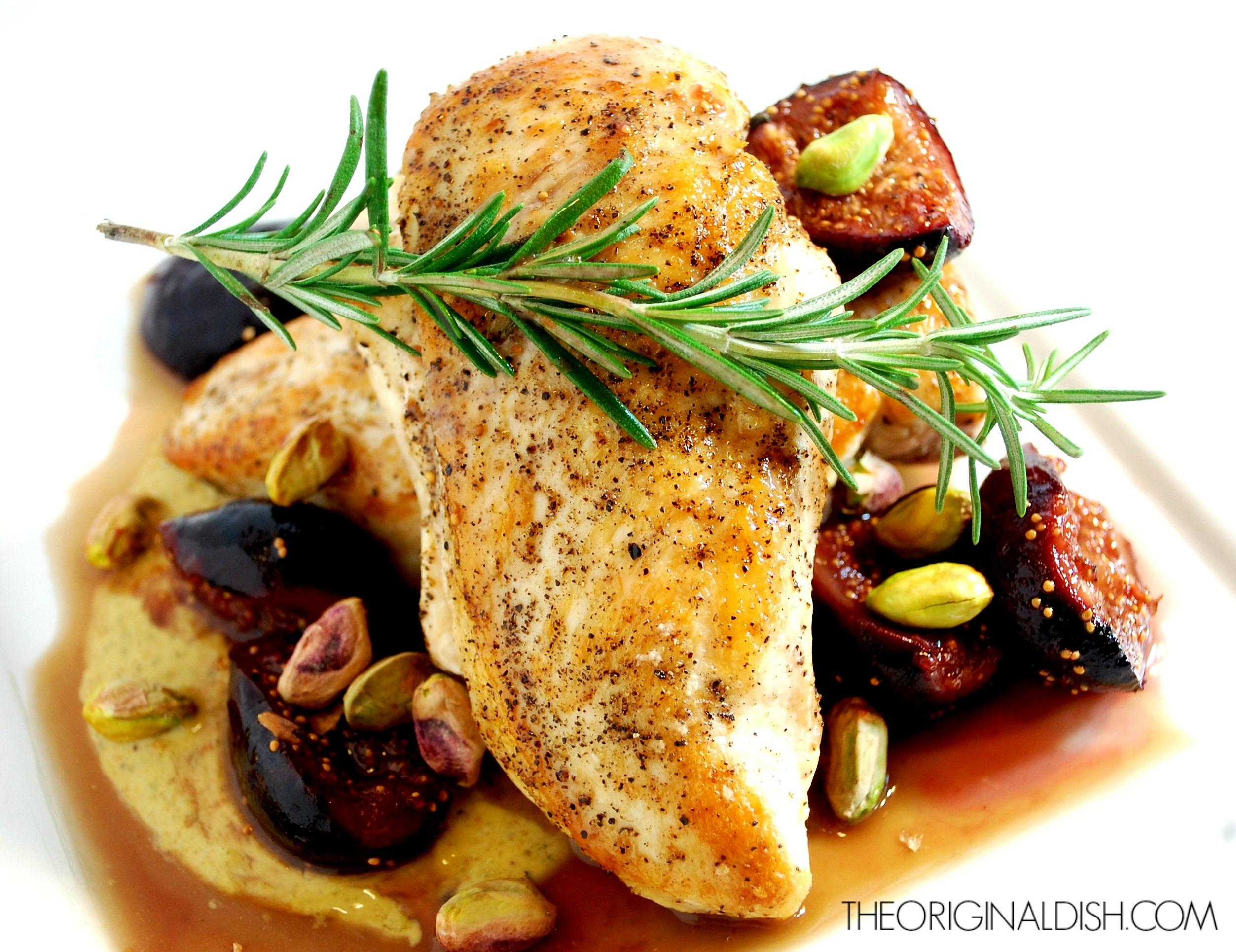 ... with Pistachio Yogurt, Caramelized Figs & Port | the original dish