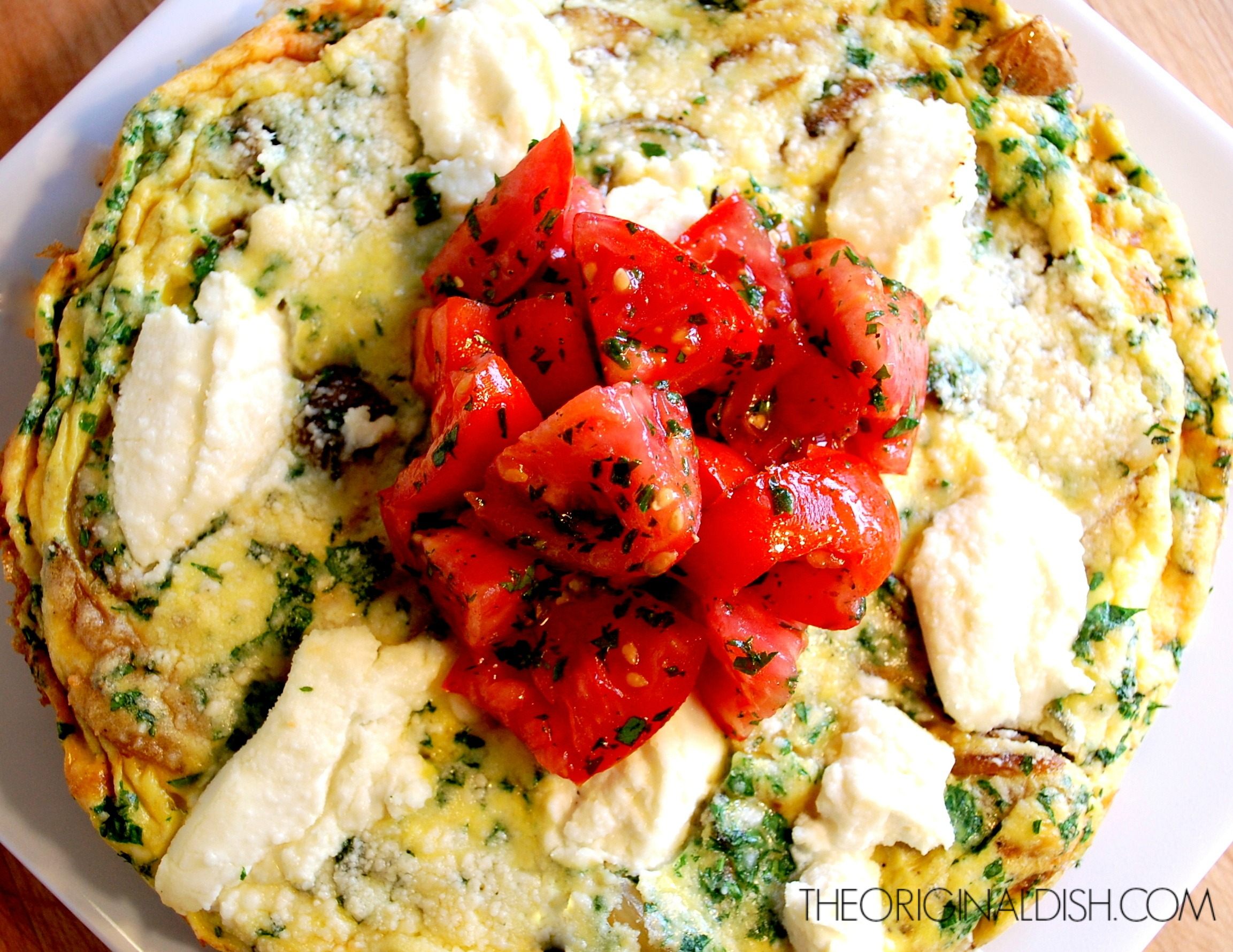 Potato & Sage Frittata with Fresh Tomatoes – the original dish