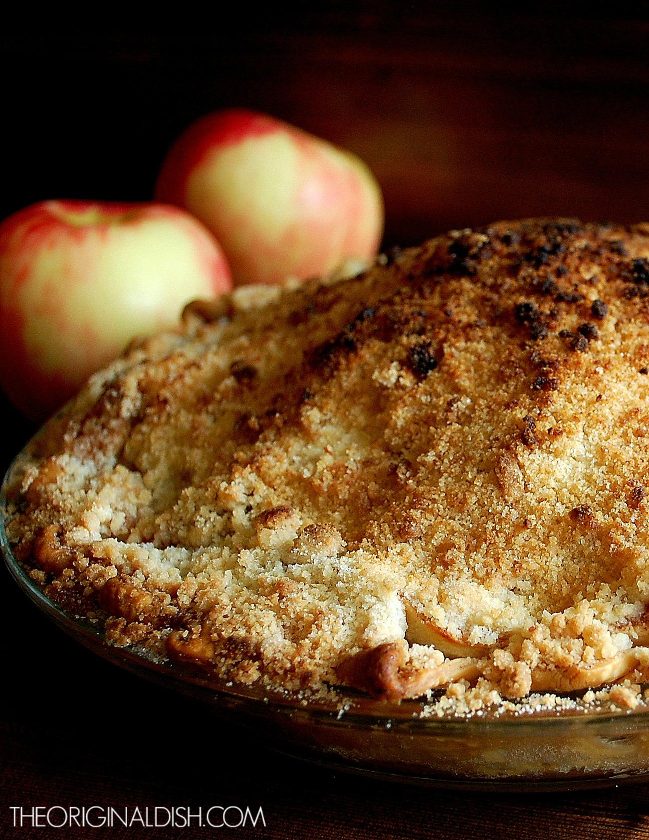 Apple Crumb Pie with Bourbon-Vanilla Ice Cream | The Original Dish