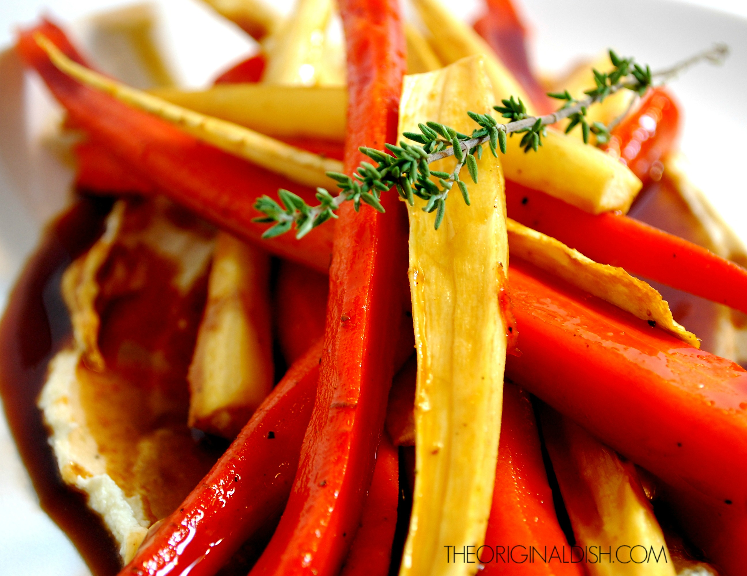 Roasted Carrots & Parsnips with Sweet Apple Glaze and Whipped Goat ...