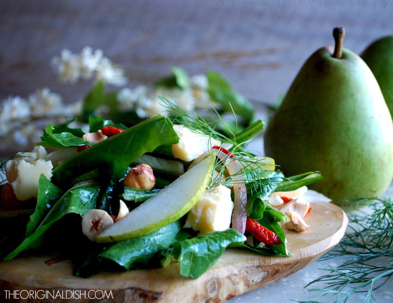 Fennel & Pear Salad with Goji BerryVinaigrette