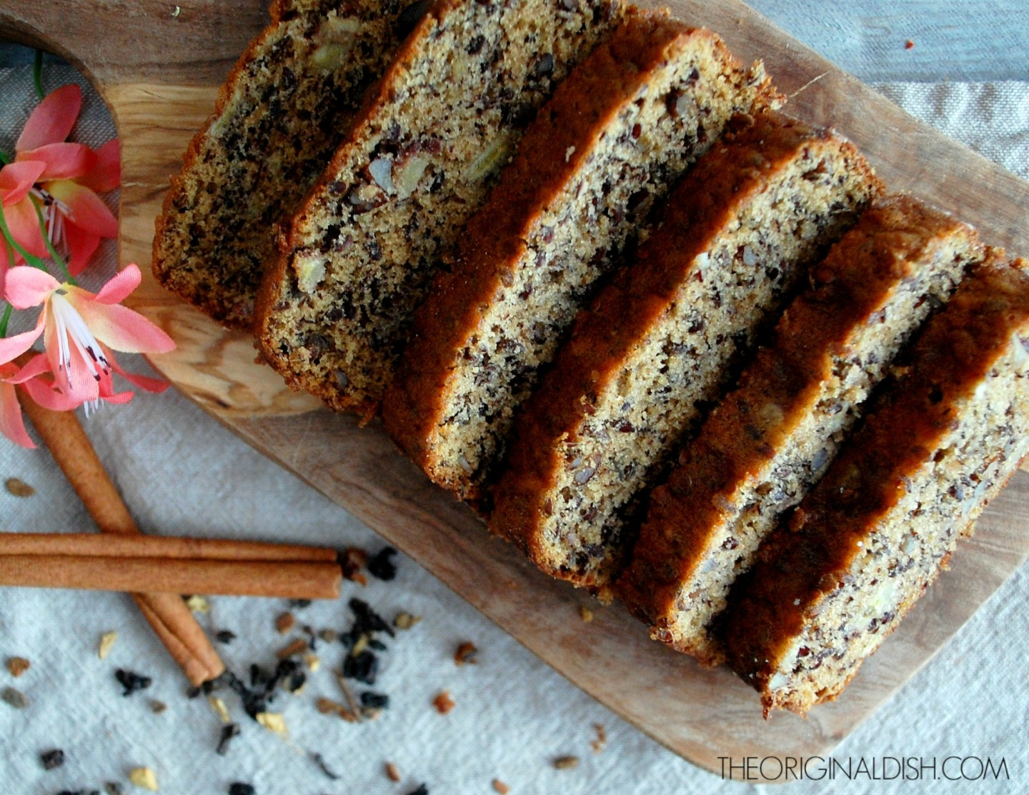Nut & Seed Banana Bread with Chai Tea Glaze